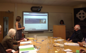 Angharad Fychan shows off our new website