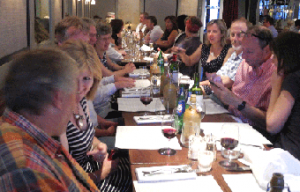 GPC staff at supper before the launch