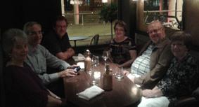 GPC staff & friends at supper.