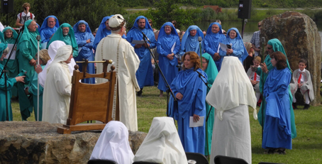 Gorsedd ceremony at the National Eisteddfod 2014