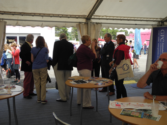 Visitors to the University of Wales & GPC stand